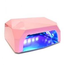 Лампа для маникюра LED+CCFL Diamond 36W  Пастельно-розовая