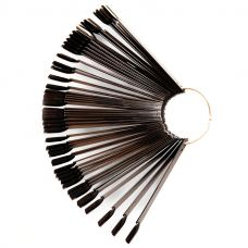 Палитра-веер на кольце черная 50 шт