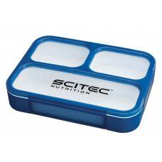 Food Container Scitec Nutrition Blue (1000 мл. + 3 секции) - Синий