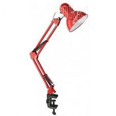Лампа настольная на струбцине, красная