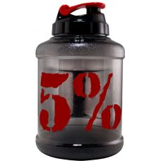 Пляшка для води Gallon Hydrator Rich Piana 5% Nutrition (2200 мл.) - чорно червона