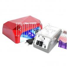 Набір лампа Diamond 36W + фрезер Lina Mercedes (YFZ-01) 20 000 об / хв