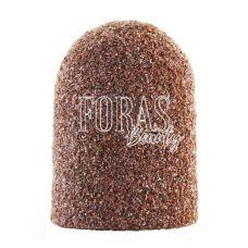 Колпачек для педикюрной фрезы, коричневый, 10х15 мм (120 grit)