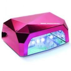 LED+CCFL Лампа для маникюра Diamond 36W Розовая