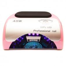 Лампа для маникюра CCFL+LED 48W Пастельно-розовая