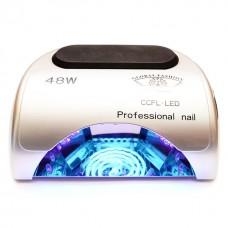 Лампа для маникюра CCFL+LED  Professional 48W Серебро