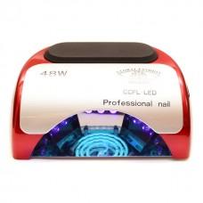 Лампа для маникюра CCFL+LED  Professional 48W Красная
