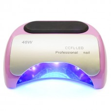 Лампа для маникюра CCFL+LED  Professional 48W  Нежно-розовая